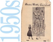 50s Dress Vintage Pattern - B 34 - Marian Martin 9343