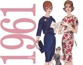 60s Mad Men Dress Vintage Pattern - B34 - Vogue 5311 - Uncut