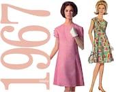 1960s Designer Dress Vintage Sewing Pattern Pattern - 34 Bust - Simplicity 6960