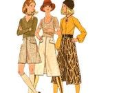 1970s Vintage A Line Skirt Sewing Pattern - Misses Skirt Vintage Pattern - Butterick 5945 - Uncut, FF
