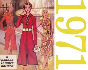 70s Dresses Vintage Sewing Pattern  - 36 Bust - McCalls for Post Cereals - UNCUT FF