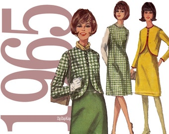 1960s Dress Vintage Sewing Pattern - Simplicity 6136 - 31 Bust