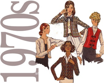 70s Cropped Jacket Vintage Pattern - 32 Bust Sewing Pattern - Butterick 6499