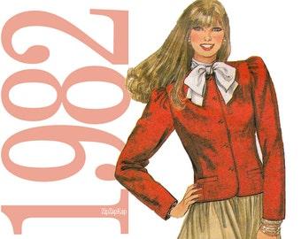 80s Jacket Vintage Pattern - Bust 34 - McCalls 7871 - Uncut FF