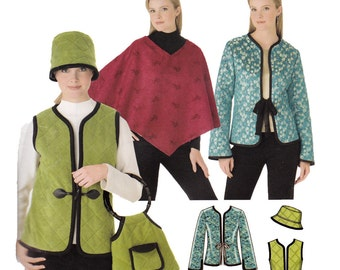 Jacket, Vest, Hat Sewing Pattern - Size 14 to Size 20 -  Simplicity 0541 - Uncut, Factory Folds
