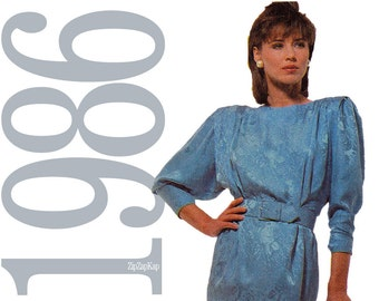 80s Dress Vintage Pattern - B32 - McCalls 2662