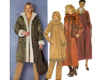 Coat Sewing Pattern - XS, S, M - Simplicity 9478 - Uncut, Factory Folds