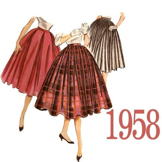 50s pleated skirts vintage sewing pattern mccalls 4457 from
