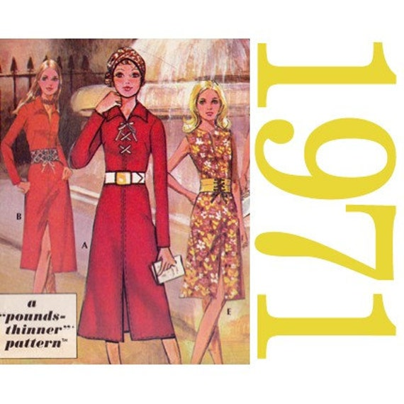 70s Dresses Vintage Sewing Pattern  - 36 Bust - McCalls for Post Cereals - UNCUT FF