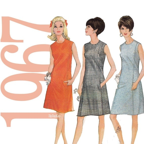 60s Dress Vintage Sewing Pattern 36 Bust McCalls 8656 UNCUT FF