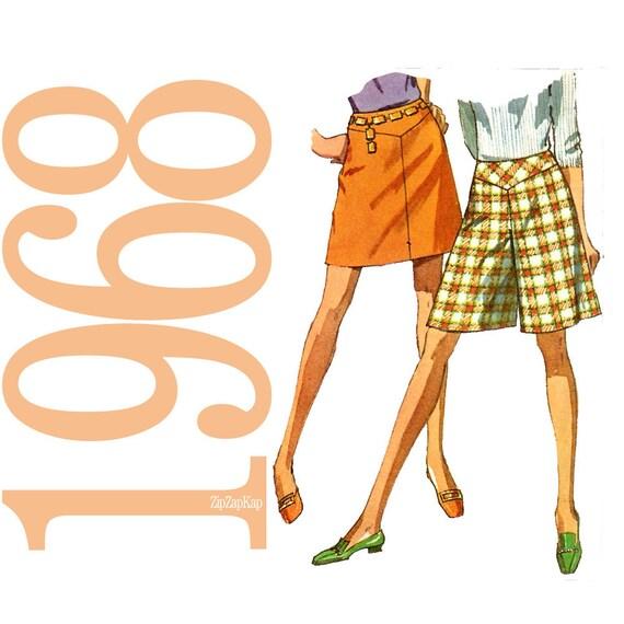 1960s Culottes Vintage Sewing Pattern - Pantskirt Pattern - Simplicity 7687