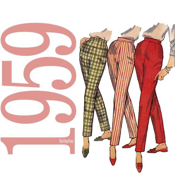 50s Pants Skirt Vintage Pattern - 34 Hip - Simplicity 3257