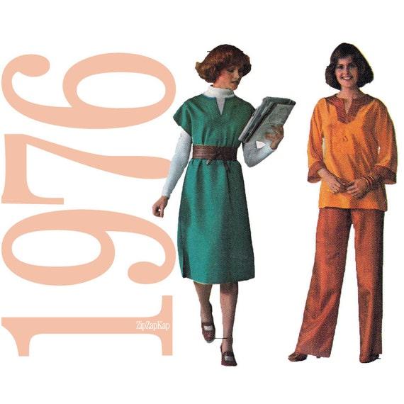 70s Dress or Tunic Vintage Pattern - B32 - Simplicity 7789 - Uncut, Factory Folds - Boho Sewing Pattern