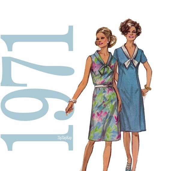 70s Dress Vintage Pattern 36B Simplicity 9330 UNCUT FF