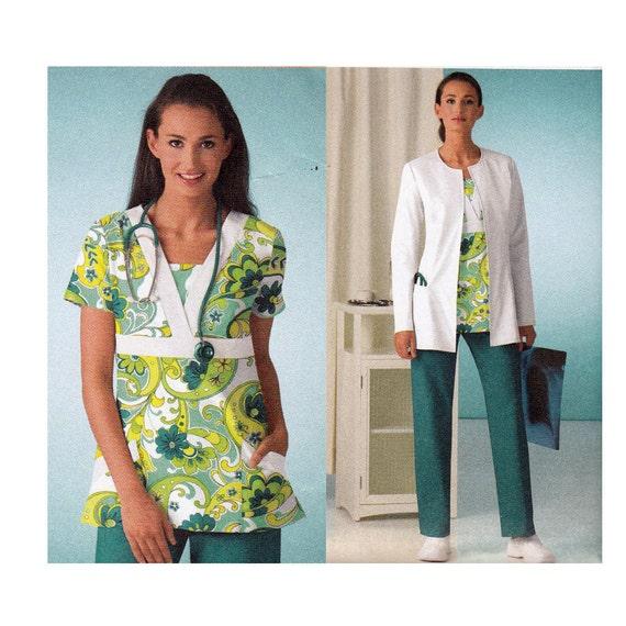Scrubs Sewing Pattern - Plus Size - Simplicity 3542 - Uncut, Factory Folds