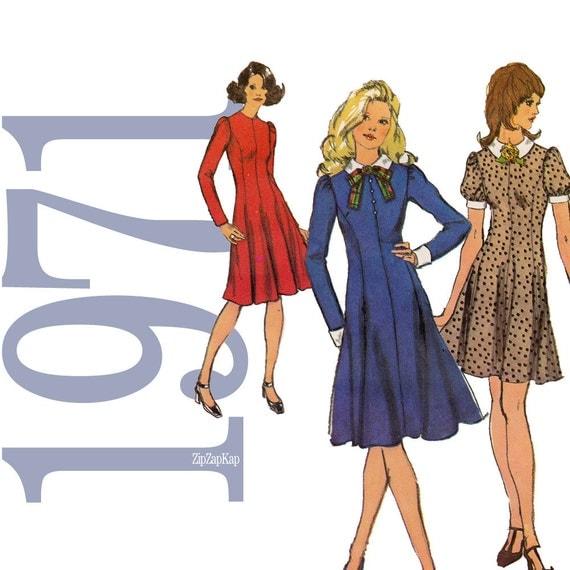 70s  Princess Dress Vintage Pattern B36 Simplicity 9774