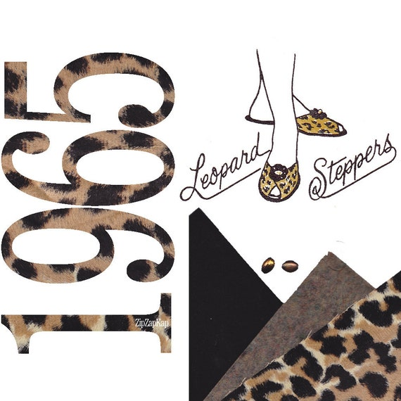 1960s Leopard Slippers Pattern and Supplies Craft Kit