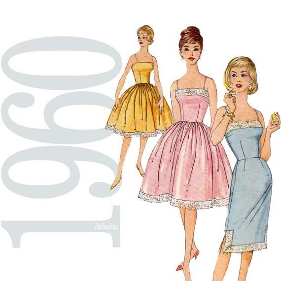 60s Slip Vintage Pattern - B 31 - Simplicity 3429