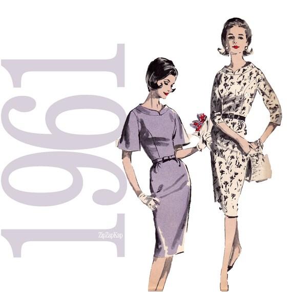 60s Dress Vintage Pattern - B32 - Advance 9782 - Uncut