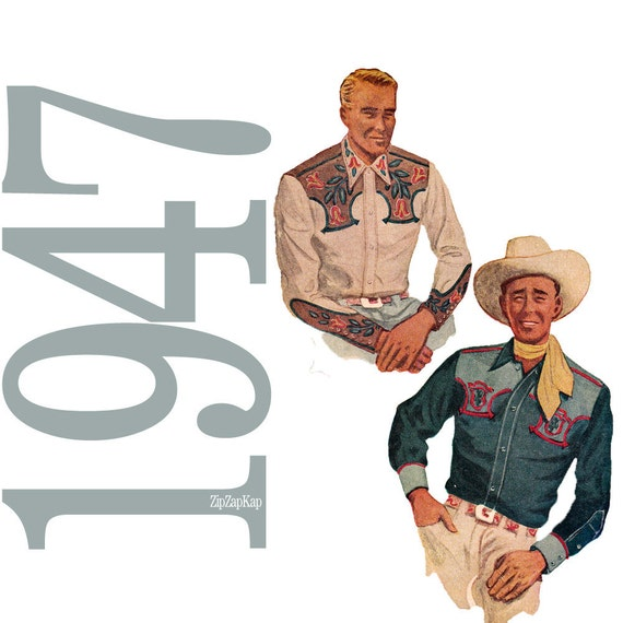 40s Cowboy Shirt Vintage Pattern - 40 Chest - McCalls 1332 - Uncut