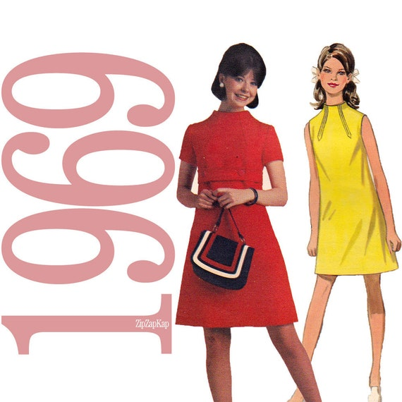 60s  Dress Vintage Pattern -  B33 - Butterick 5154 - Uncut, Factory Folds