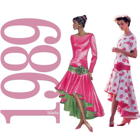 80s Dress Vintage Pattern - B36, B38, B40 - Butterick 3930 - Uncut, Factory Folds