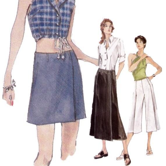 Skort, Pants, Skirt Sewing Pattern - Size 14, 16, 16 - Vogue 9996 - Uncut, Factory Folds