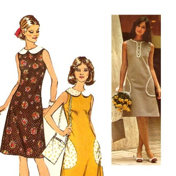 70s Shift Dress and Bag Vintage Sewing Pattern Simplicity - photo#7