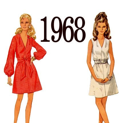 60s dress pattern on Etsy, a global handmade and vintage marketplace.