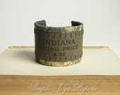 Vintage Book Cover Cuff INDIANA eco-friendly teamepe