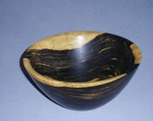 """wood bowl, black and white ebony, lots of color, 5.5"""" x 2.5"""""""