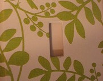 Green Branches and Bird Light Switch Cover