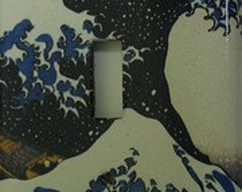 Japanese Wave Light Switch Cover