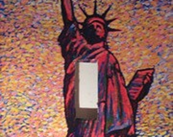 Pixilated Statue of Liberty Light Switch Cover