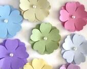 Handmade Paper Flowers in Pastels, Die Cut Flower, Spring Flowers