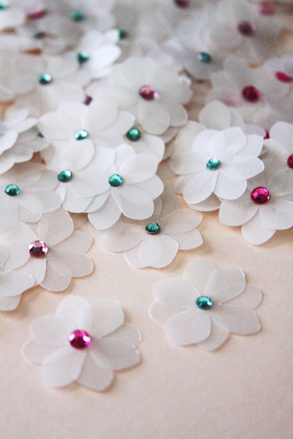 handmade paper for sale on sale handmade paper flowers in pearlescent white 9529