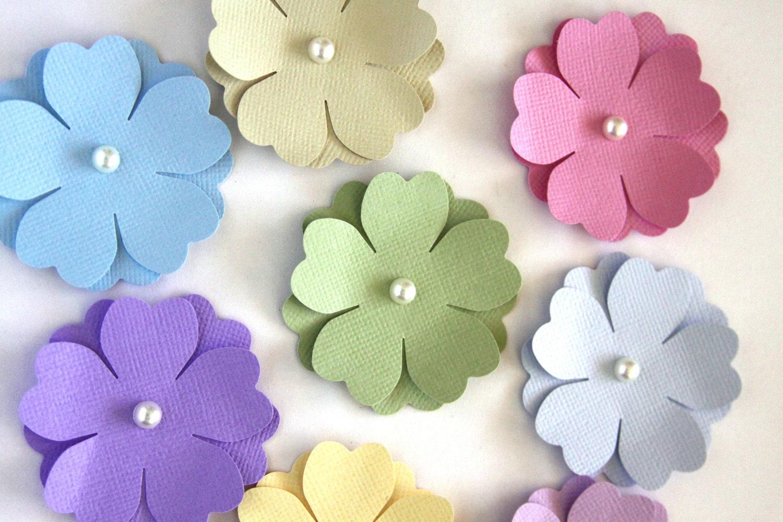 Handmade Paper Flowers In Pastels Die