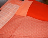 Spring Oranges and Melons Knit Fabrics  destash