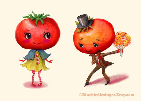 Tomato Couple Art Print