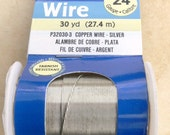 24 Gauge Tarnish Resistant Copper Wire (Silver)
