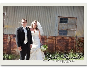 Just Married Photo Postcards - 100