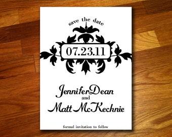 100 Decorative Save the Date Postcards