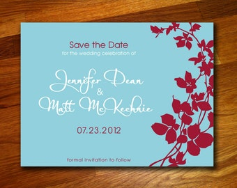 100 Floral Save the Date Postcards