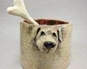 Sweet Guardian...Sugar Cup / Salt Cellar with Bone Spoon in Stoneware