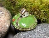 Sunday Gardening...Miniature Landscape Ring in Stoneware