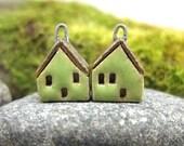 LIME...Miniature House Earrings
