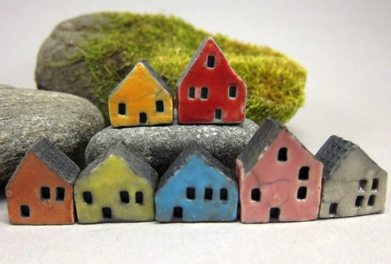 Lucky nr 7...Rustic Miniature Houses for Moss Tearriums or Pot Gardens