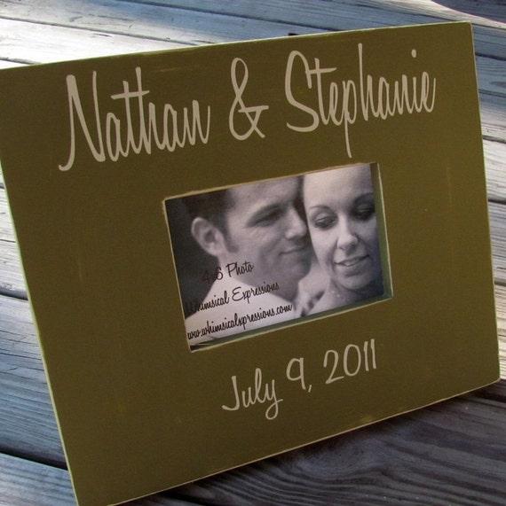 Custom Wedding Name Frame - 4x6