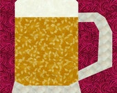 Mug o' Beer Paper Piece Quilt PDF Pattern by MadCreekDesigns