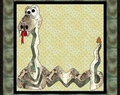 Slinky The Snake Applique Quilt-PDF Pattern y MadCreekDesigns